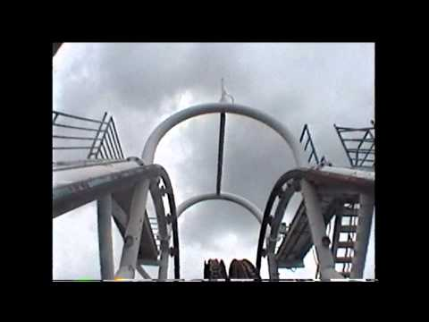 Ultra Twister Roller Coaster POV Six Flags Astroworld 1999 Complete On-Ride Houston TX