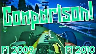 F1 2009 Wii & F1 2010 PC Comparison - Graphics improvement over 1 year