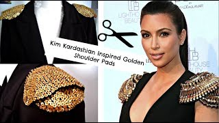 Kim Kardashian Inspired Golden Shoulder Pads ♥ | Teslime Moda Thumbnail