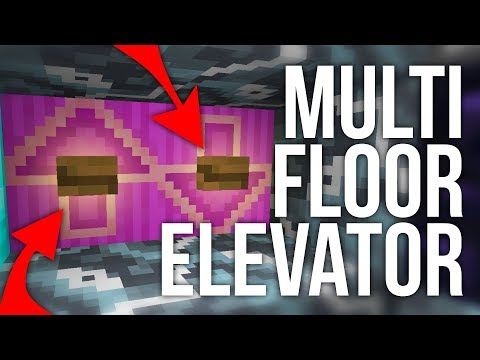 How To Build A Real Working Elevator In Minecraft