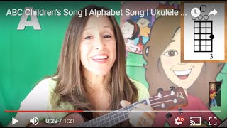 ABC Children's Song | Alphabet Song | Ukulele Chords | Patty Shukla