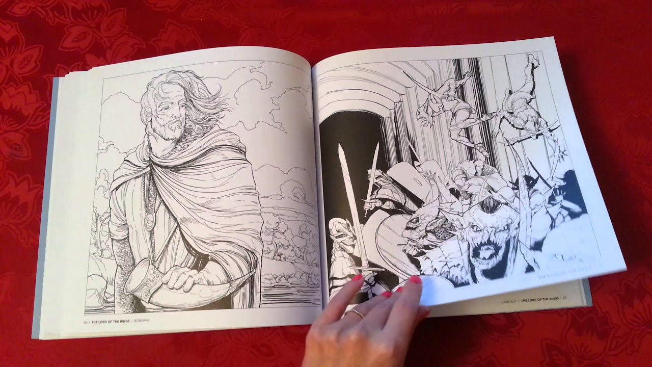 It's just an image of Versatile Tolkiens World Coloring Book