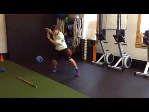"""Baseball Swing """"Drive Phase"""" Med Ball Exercise"""
