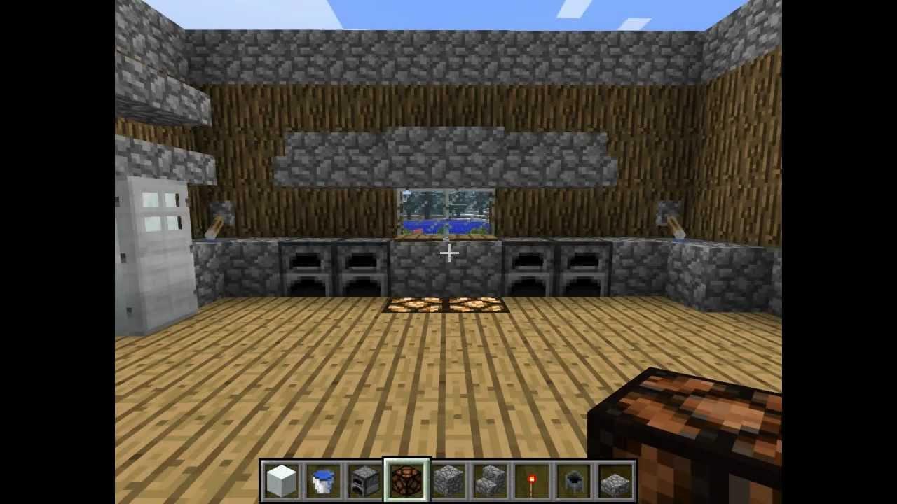 Minecraft episode 1 astuce am nagement construction for Cuisine minecraft