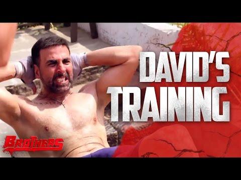 David's Training | Brothers Behind The Scenes | Akshay Kumar