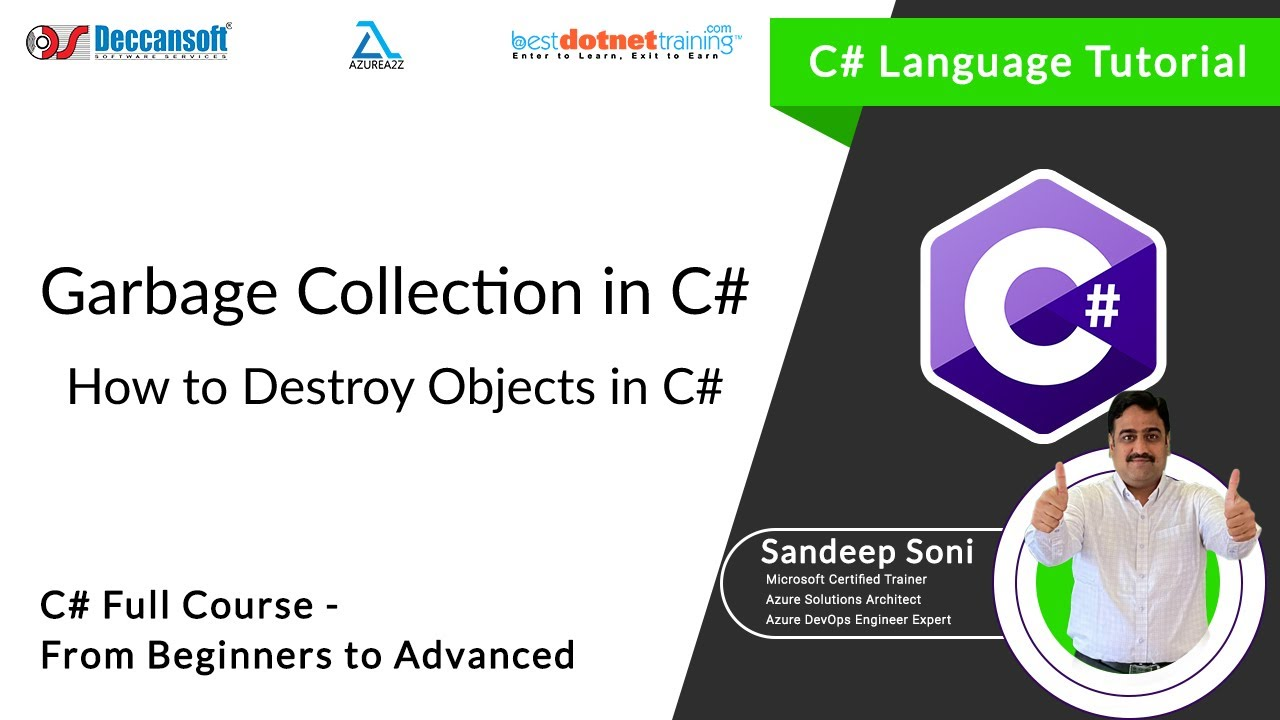 C Language Tutorial   Garbage Collection in C   How to Destroy Objects in  C by Sandeep Soni