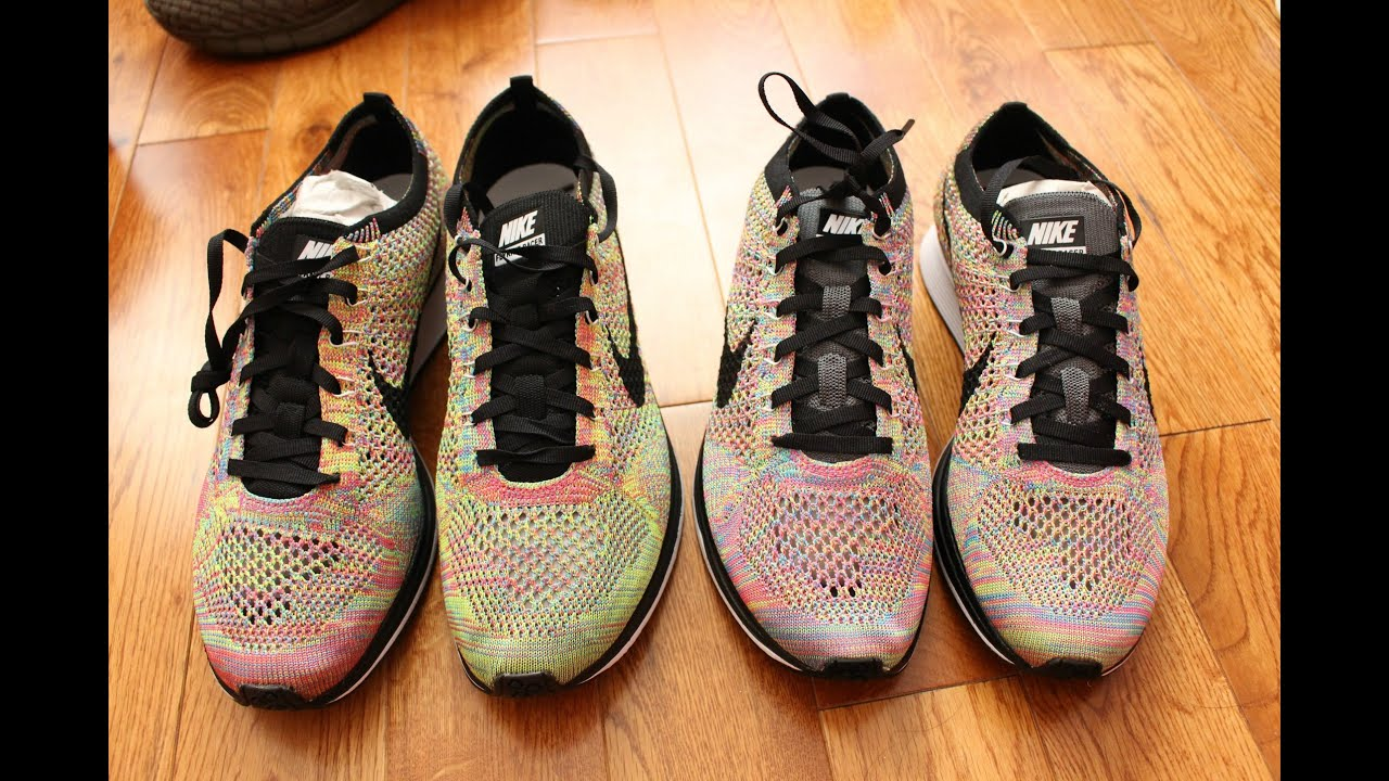 e7634ee2a65dc Nike Flyknit Racer Multicolor 3.0 vs 1.0 (Comparison) - YouTube