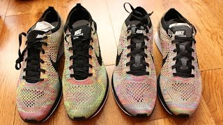 Nike Flyknit Racer Multicolor 3.0 vs 1