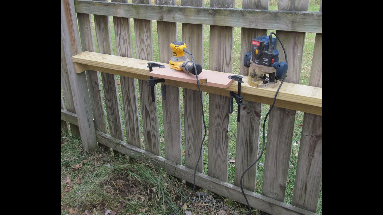 A Simple Permanent Outdoor Work Bench