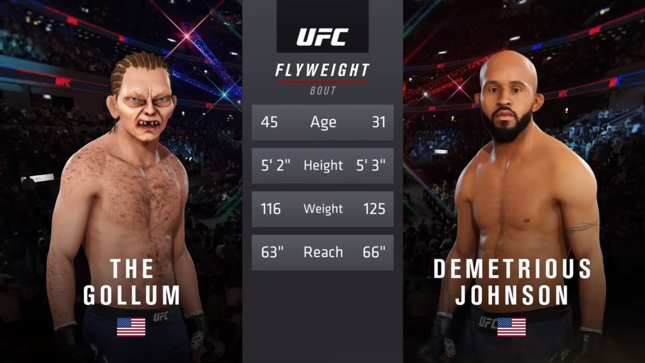 Download Gollum vs. Demetrios Johnson (EA sports UFC 3) - CPU vs. CPU - Crazy UFC 👊🤪