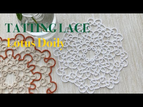 태팅레이스 무료도안/ 연꽃도일리 -1 / Tatting lace Free pattern/ Lotus Doily -1