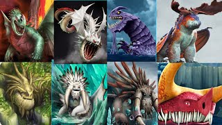 All 8 LEGENDARY DRAGONS (New Crimson Goregutter ) - Dragons:Rise of Berk New Update