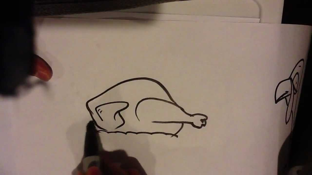 how to draw a roast turkey easy things to draw youtube