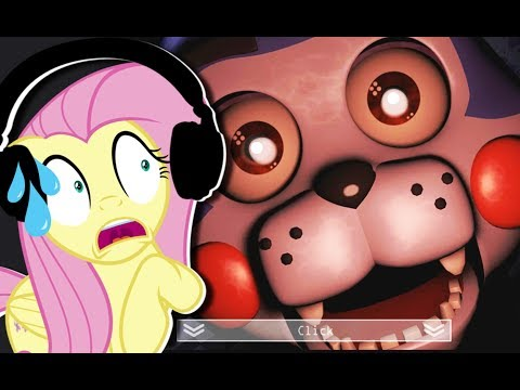 Fluttershy plays Five Nights at Candy's 1