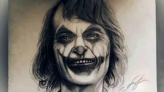 джокер, Joker (Хоакин Феникс) 2019, рисунок карандашом и маркером