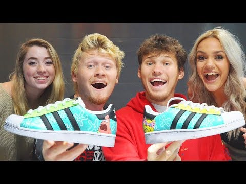 COUPLES 1 HOUR SHOE PAINTING CHALLENGE! Adidas Superstar