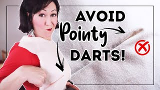 5 TIPS ON HΟW TO SEW NON-POINTY DARTS! ✂ (Basically how to sew your best darts ever!)