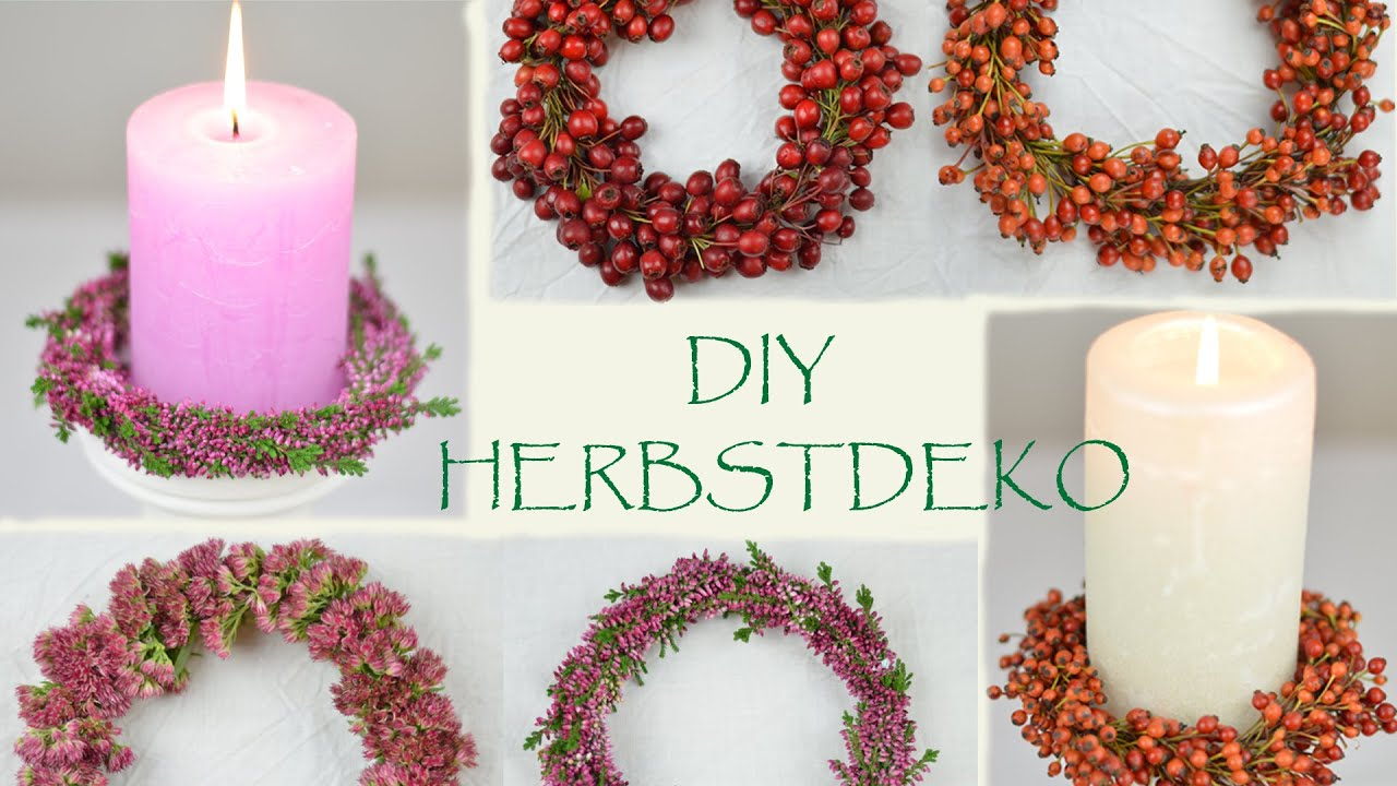 diy monochrome herbstkr nze aus beeren und bl ten i herbstdeko i tischdeko i how to youtube. Black Bedroom Furniture Sets. Home Design Ideas