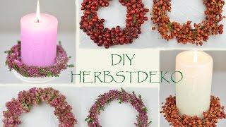 DIY - monochrome Herbstkränze aus Beeren und Blüten I Herbstdeko I Tischdeko I How to
