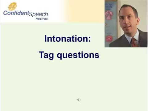 Intonation for tag questions