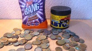 #Чистка #EURO монет #SILIT #BANG и автопастой(Хочу поделиться с вами способом чистки #EURO монет которым я пользуюсь наиболее часто. Думаю многие видели..., 2016-03-19T11:58:09.000Z)