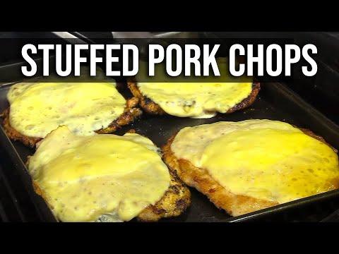 Stuffed Pork 'n Pig Chops recipe