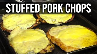 Stuffed Pork 'n Pig Chops recipe
