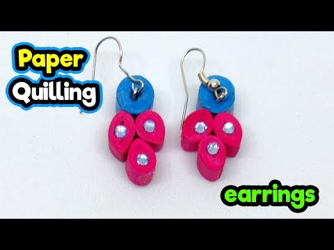Paper quilling ear rings | DIY crafts | How to make minute crafts for kids