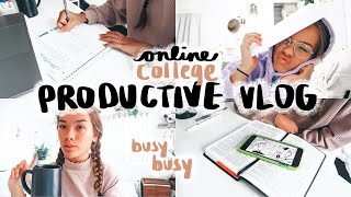 PRODUCTIVE *ONLINE* COLLEGE DAY IN MY LIFE | Zoom Classes, Essays, Homework, Exams, Life Update!