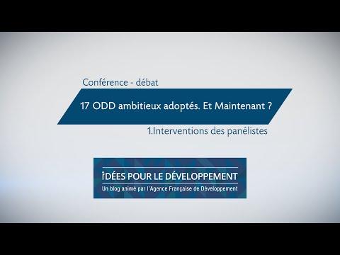 17 ODD ambitieux adoptés. Et maintenant ? (Partie 1/2)