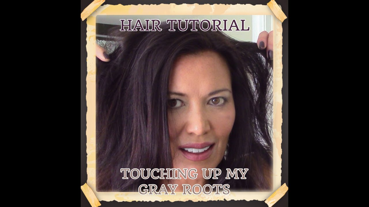 HAIR TUTORIAL - HOW I TOUCH UP MY GRAY ROOTS!! - YouTube