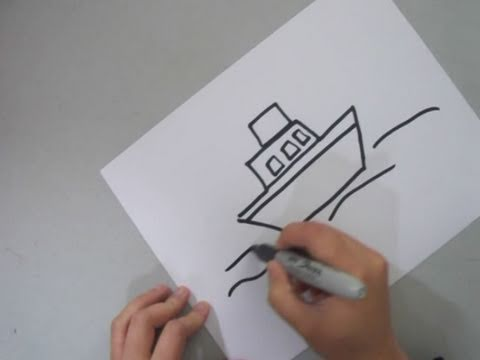 How to draw a tug boat ep simplekidscrafts youtube malvernweather Choice Image