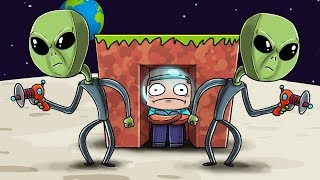 Crazy Minecraft - ALIENS PROTECT MY BASE! (Friendly Aliens)
