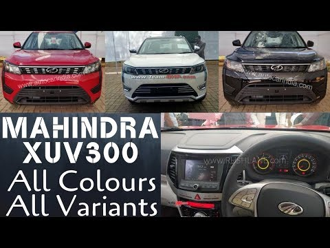 Mahindra XUV300 All Variants & Colours Live Images LEAKED ! Bookings Open :)