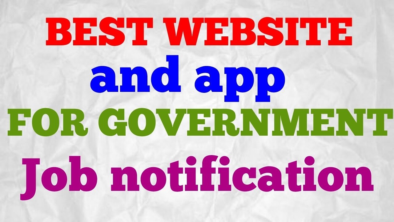 best website and application for government jobs notification
