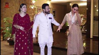 Kareena Kapoor, Karishma, Saif Ali Khan Arrives At Arman Jain Engagement Reception