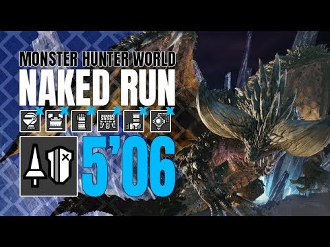 Monster Hunter World ♦ Naked Run ♦ Nergigante 5'06 thumbnail