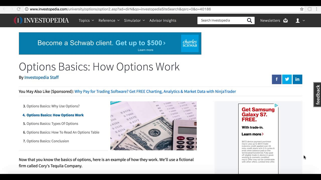 How do i trade stock options