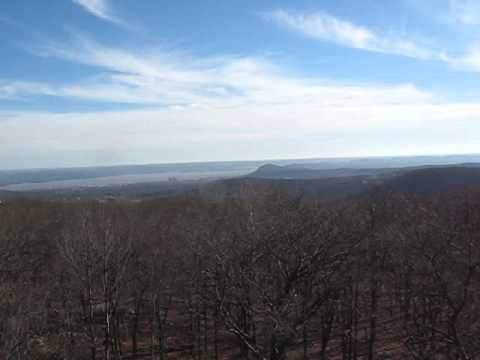 Panoramic View on Jackie Jones Mountain Fire Tower - 1 of 2 high points of Rockland County, NY