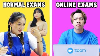 Students in Online Exams vs Normal Exams
