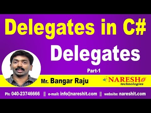 Delegates in C# | Delegates Part 1 | C#.NET Tutorial | Mr. Bangar Raju