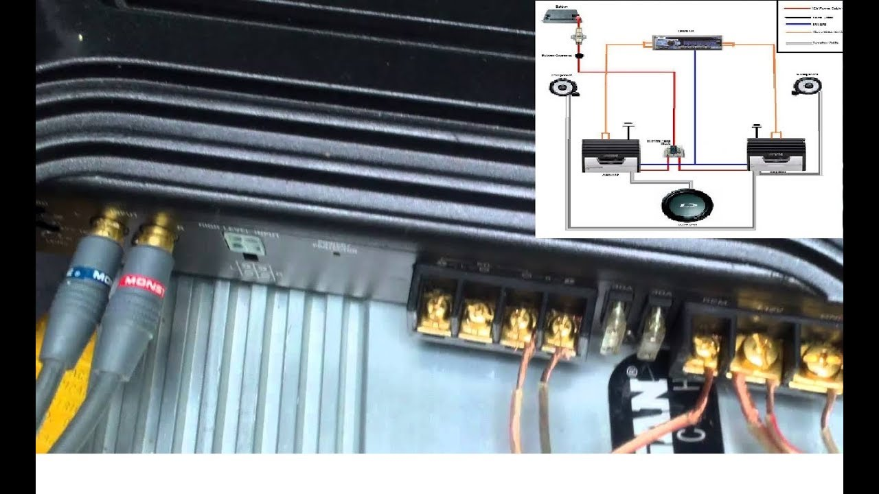 wiring diagram sony xplod 52wx4 kicker subwoofer diagrams toyskids co how to connect your car amplifier a very simple
