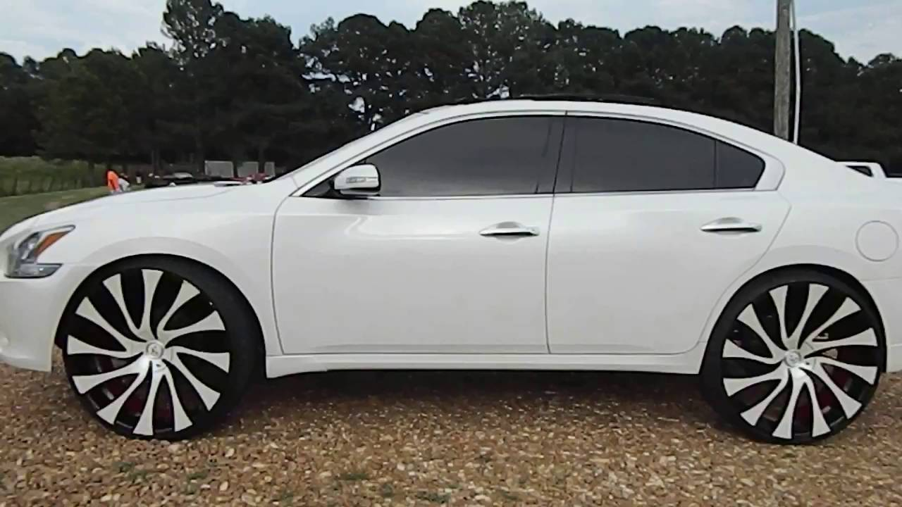 """22 Inch Rims Nissan Altima >> Nissan Maxima on 26"""" Starr Gatsby Wheels Battle Of The Whipz - YouTube"""