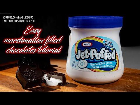 Easy Marshmallow Filled Chocolates Tutorial
