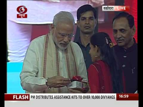 PM distributes assistance kits to over 10,000 divyangs in Vadodara