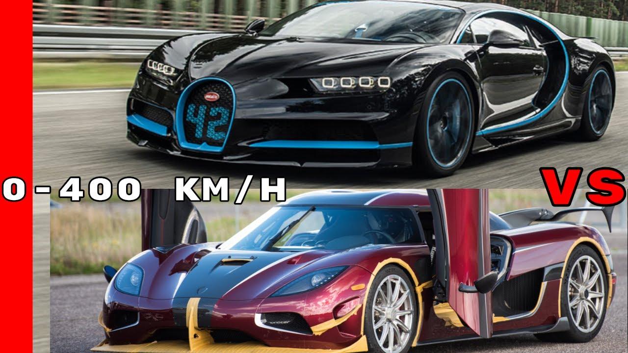 Koenigsegg Agera RS vs Bugatti Chiron - 0-400 km/h - YouTube