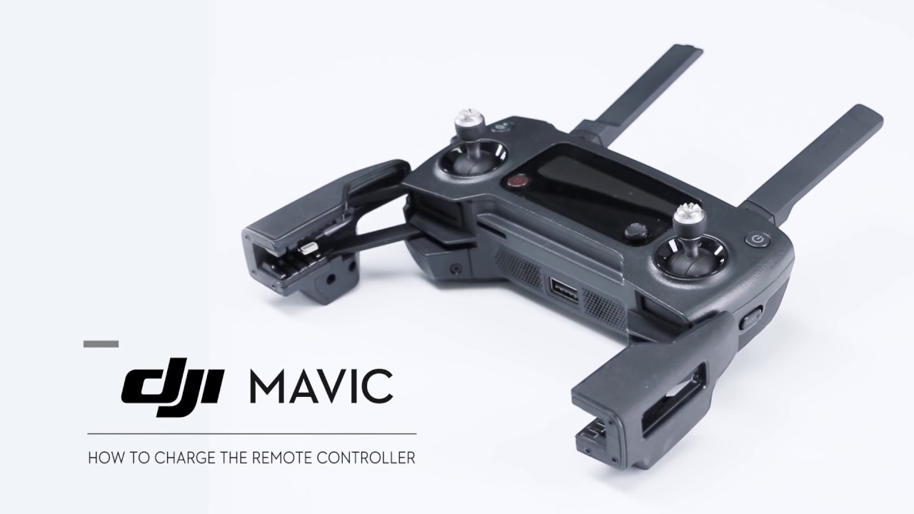 How To Charge Dji Mavic Pro Remote Controller Youtube