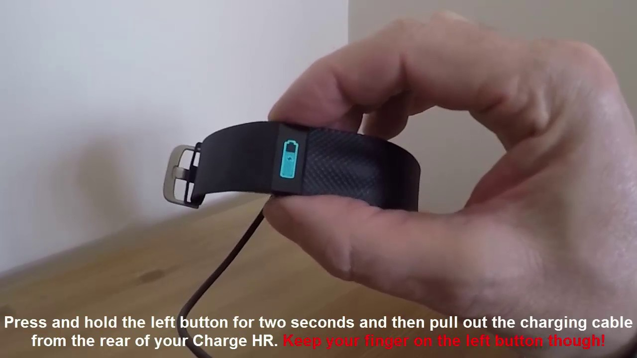 How to reset and wipe your Fitbit Charge HR in one easy step!