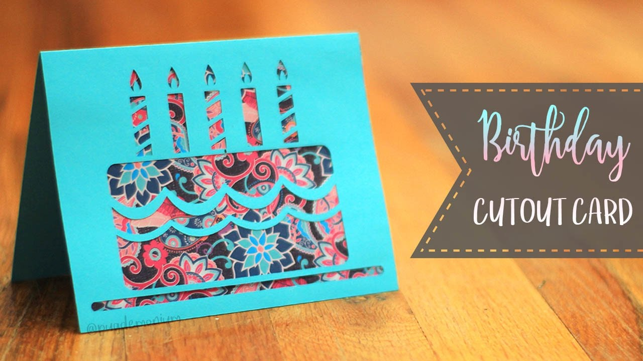 How To Make A Birthday Cake Cutout Card Patterns Youtube