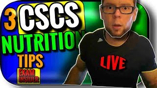 CSCS Exam Prep | 3 TARGETED Nutrition Solutions